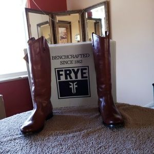 Frye Melissa Riding Boots 8.5 Worn 1x w/tag & Box